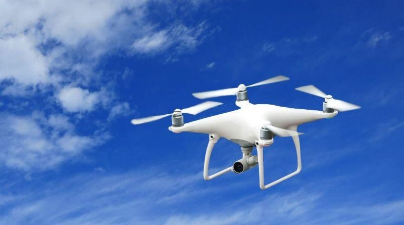 Drones test flights to monitor social distancing